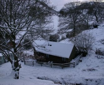 Bunkhouse in the snow