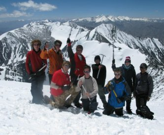 Graham is a mountain guide. Stok Kangri clients.