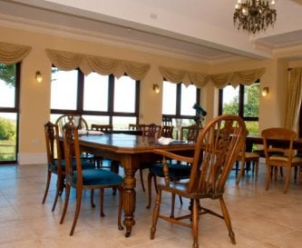 Orangery interior for large functions and catering