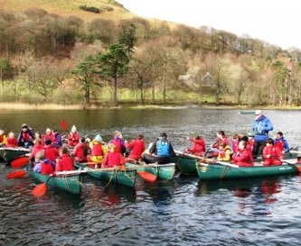 Canoe Rafting on Derwentwater