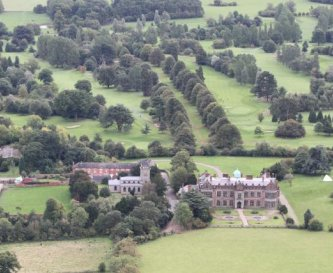 Aerial view of the North Front of the house