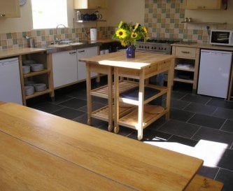 Fully equipped kitchen seating 12/14