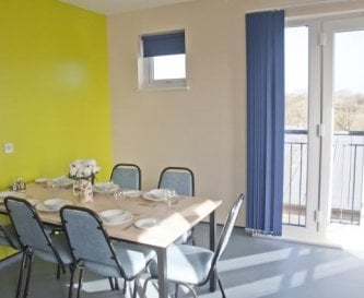 Shared dining area in the kitchen