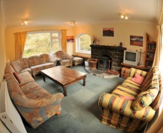 Comfortable sitting room is perfect for relaxing