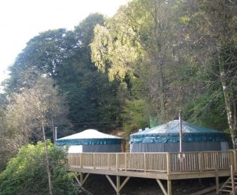 The yurts on site at Hawse End