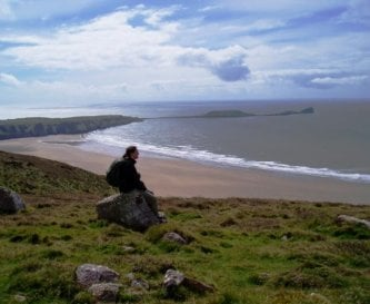 Worm's Head and three miles of sandy beach