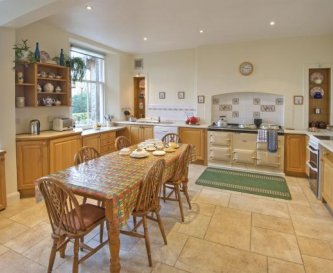 Kitchen with AGA & electric cookers. 2 dishwashers