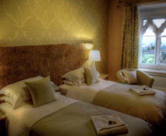Bedroom 2. Twin beds, window seat, great views