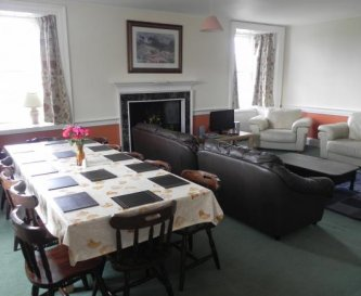 Old West Wing living/dining room with loch views