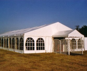 Option 3 with Marquee on the mown Grove field