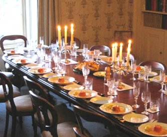 Formal dining for up to 24 - expandable to 36