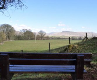 The Pennines from the paddock