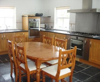 There are three well-equipped kitchens.