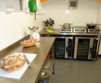 Induction hobs + fan ovens of commercial kitchen