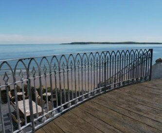 East Rock House balcony, best view in Tenby
