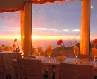 Dinner with sea view and sunset