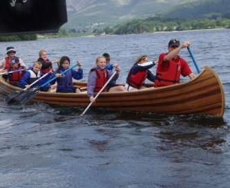 Dragon Boat racing on Derwentwater