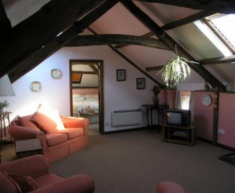A typical cottage interior - comfortable and light