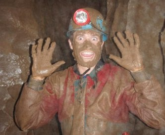 Caving locally, not always this muddy!