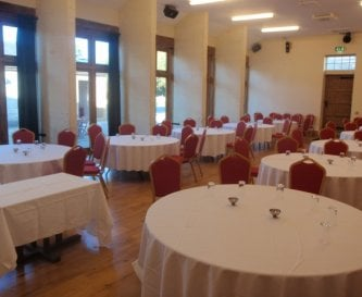 The Carriage House ready for a conference