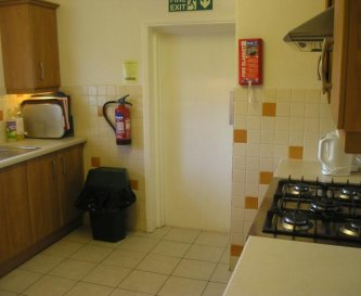 The kitchen with gas hob