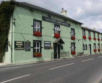 Golden Lion Hotel, we are situated at the back.