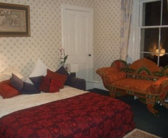 Bedroom with super King size bed, dressing room