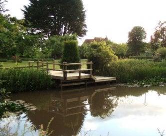 Pond-dipping platform