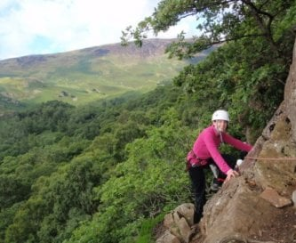 Rock climbing in Borrowdale