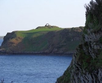 Coastal path from your door to Cruggleton castle