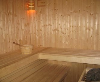 Real Finnish Sauna seats up to 8