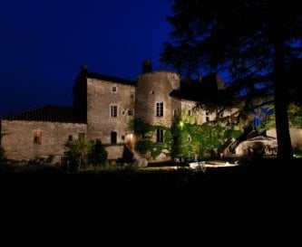 Chateau by night - very romantic