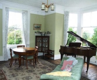 Sitting room with boudoir piano