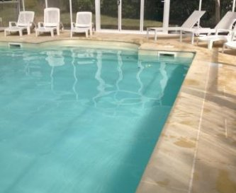 15m heated pool has dome ideal for the late season