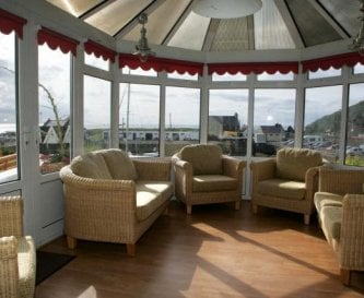 Conservatory overlooking Portpatrick Harbour