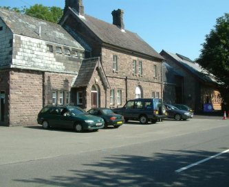 The old village railway station, Grade 2 listed.