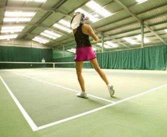 Indoor tennis court at Morton of Pitmilly resort