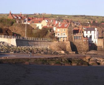 The beachfront at Robin Hoods Bay