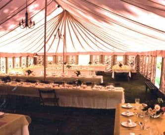 We have a splendid Indian marquee for 150 guests