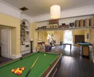 Games room at Tone Dale House