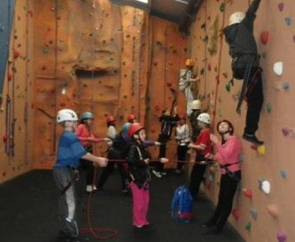 Trewern's indoor climbing centre