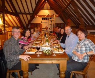 24 guests can sit  to dine in Granary