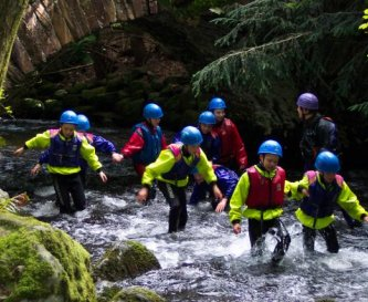 Gorge walking on site