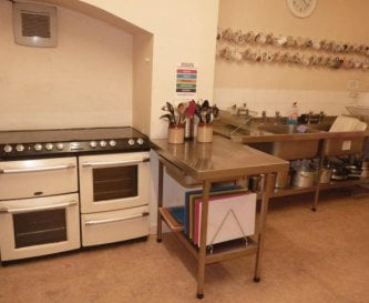 Fully equipped kitchen with 2 microwaves