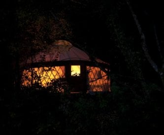 Yurtcamp at night fall