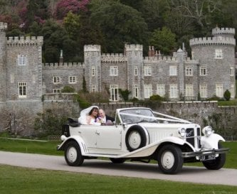 With Caerhays Castle as a backdrop