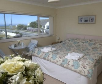 Fistral (rm5) twin beds or 6ft double, sea views.