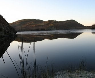 Free fishing on our trout loch in the hills.