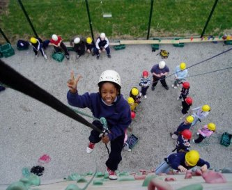 Climbing and abseiling, on site high ropes course