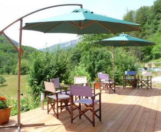 The barbecue terrace